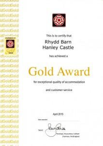 Gold Award April 2015