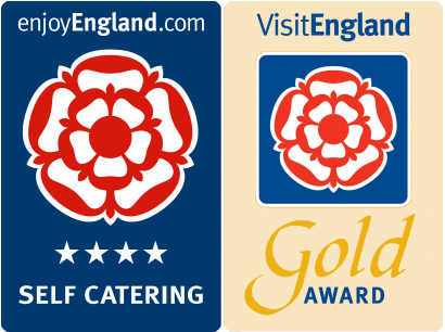 VsitEngland 4-star gold award logo
