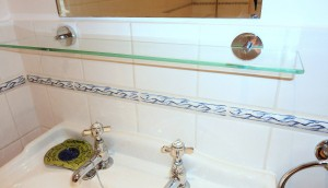 bathroom - mirror shelf