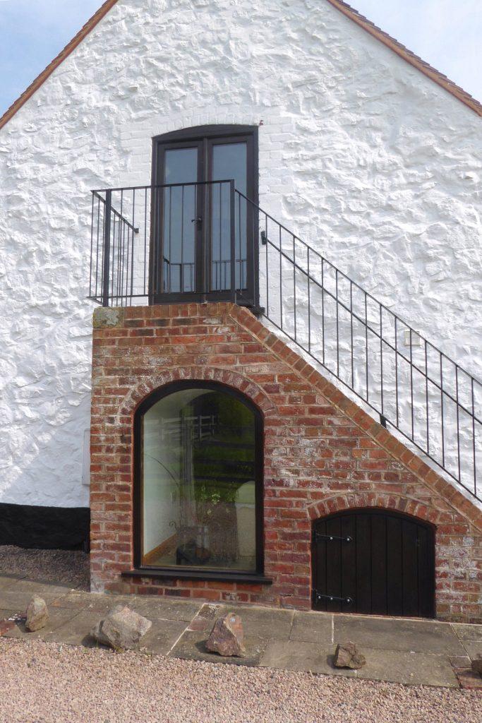 Rhydd Barn west wall
