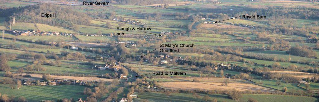 Rhydd Barn from Malvern Hills