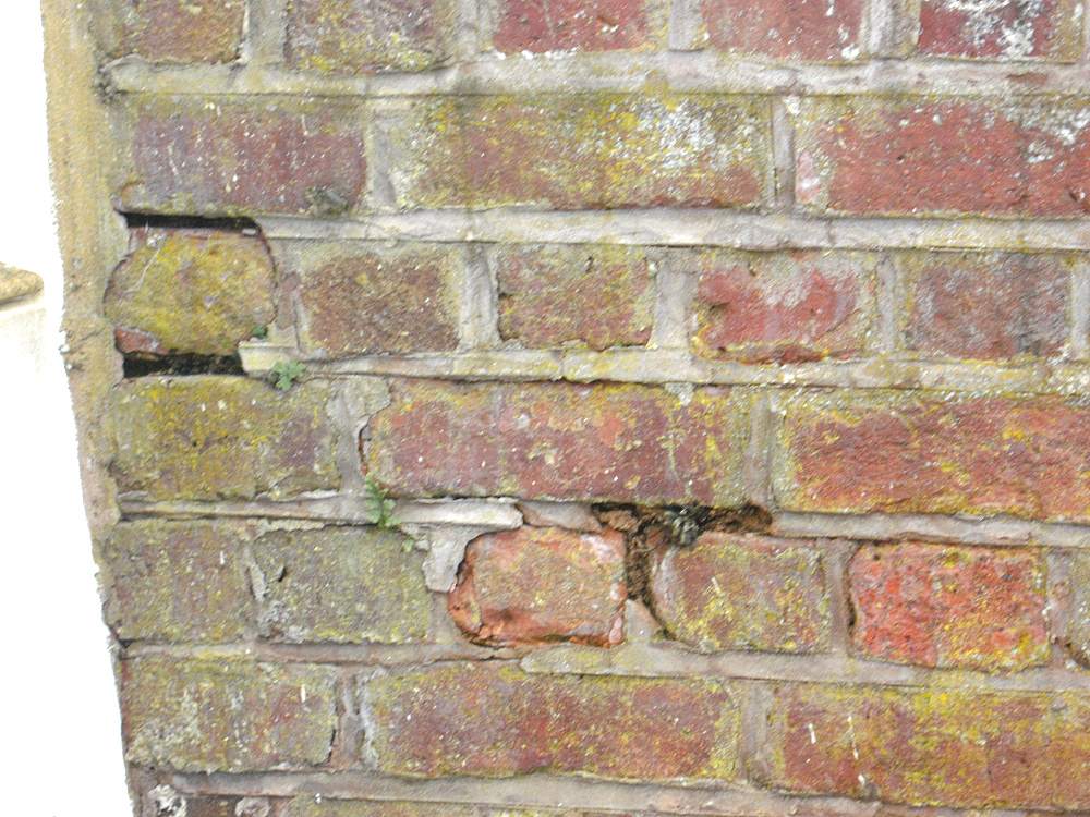 Barn brickwork defects